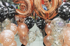 Rose Gold Fifty Balloon Package