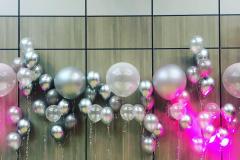 Balloon Wall Silver Tones