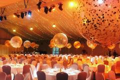 Jumbo Balloon with Gold Confetti