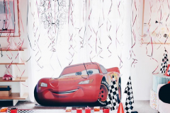 Cars Theme with Helium Balloons