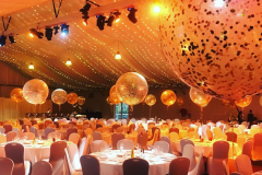 Jumbo Balloon with Gold Confetti