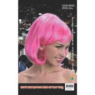 Fluro Hot Pink Bob Wig