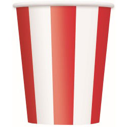 Striped Red Paper Cups