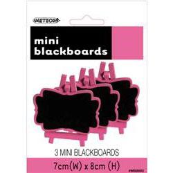 Mini Blackboards Hot Pink