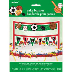 Classic Sports Cake Banner