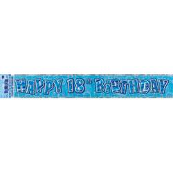 18 Banner Blue & Silver