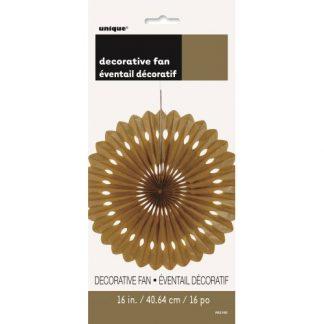 Decorative Fan Gold
