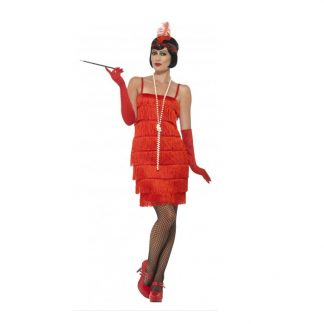 1920's Short Red Flapper