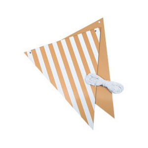 Bunting Gold & White