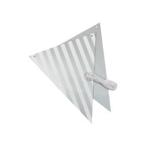Bunting Silver & White