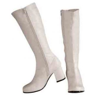 Go Go Boots White Adult