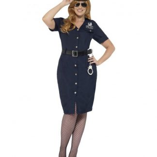 Womens Curves NYC Cop Costume Large