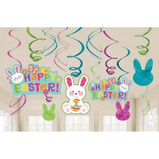 Easter Foil Swirl Decorations
