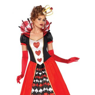 Deluxe Queen Of Hearts 2pc Costume