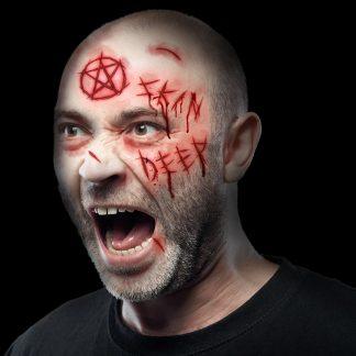Halloween Face Scars Tattoo