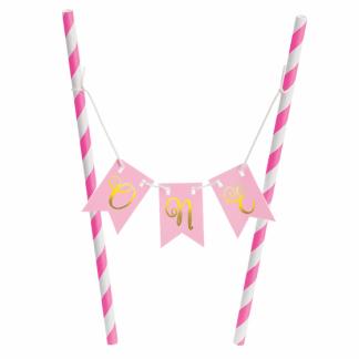 1st Birthday Pink Mini Cake Stand Kit