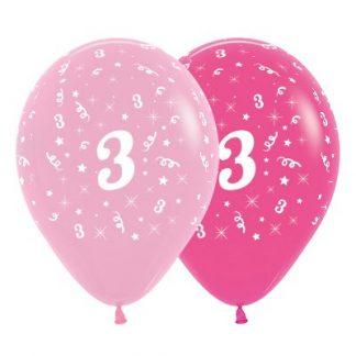 30cm Age 3 Pink Latex