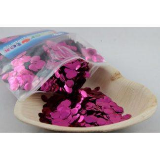 Confetti Metallic 1cm Hot Pink 250 grams