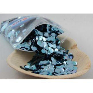 Confetti Metallic 1cm Light Blue 250 grams