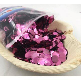Confetti Metallic 1cm Light Pink 250 grams