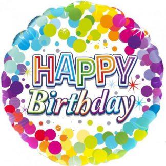 Colourful Happy Birthday Foil