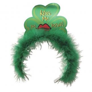 Tiara Marabou 'Kiss Me I'm Irish