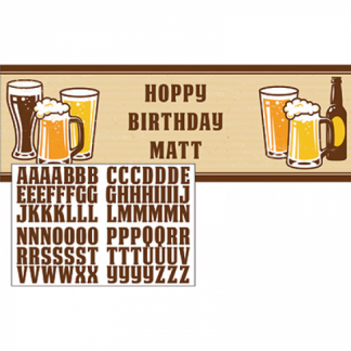 Beer Birthday Banner