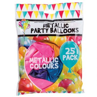 Balloons Metallic Mixed Col 25pk