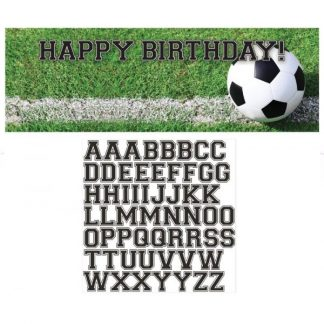 Sports Fanatic Soccer Giant Party Banner with Stickers