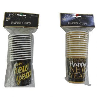 CUPS NEW YEARS 12pk 250ml