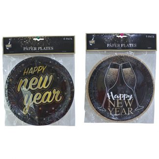NEW YEAR PAPER PLATES 6pc