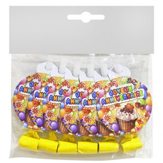 PARTY BLOWERS NYE 6pc