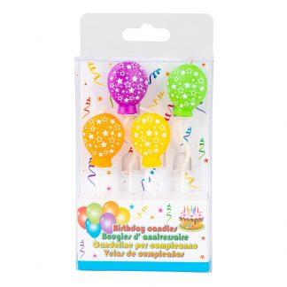 Candle Balloon Star 4pk