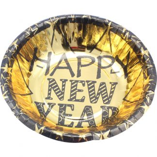 Bowls 6pk Foil Happy New Year