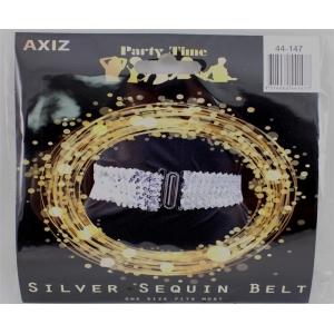Silver Sequin Belt