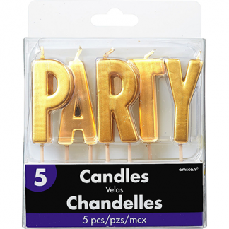 Candle Set Party Gold