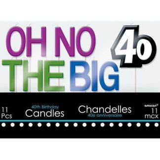 40th Birthday Candle Set