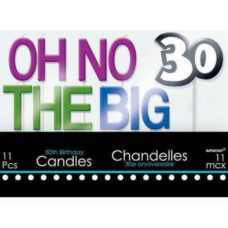 30th Birthday Candle Set