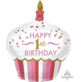 1st Birthday Cupcake Girl