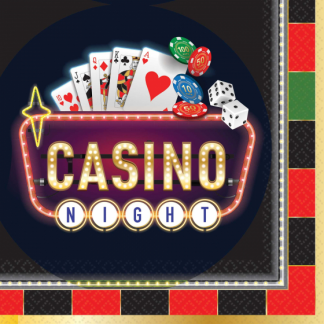 Roll The Dice Casino Lunch Napkins