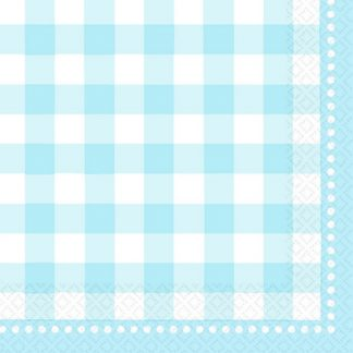Gingham Baby Blue Lunch