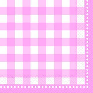 Gingham Pale Pink Lunch