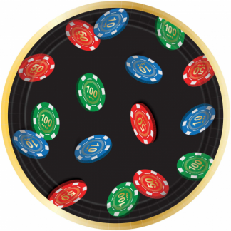 Roll The Dice Casino Lunch Plates