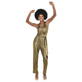 70's Gold Jumpsuit Costume