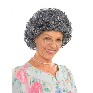 Wig Granny Curly