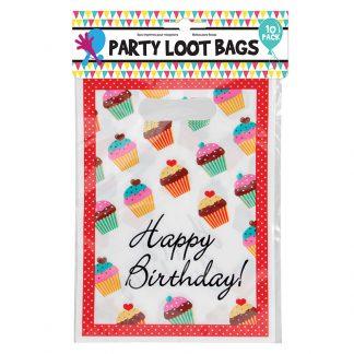 Party Loot Bags 10pk 4asst