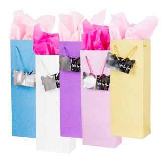 Glitter Bottle Gift Bag