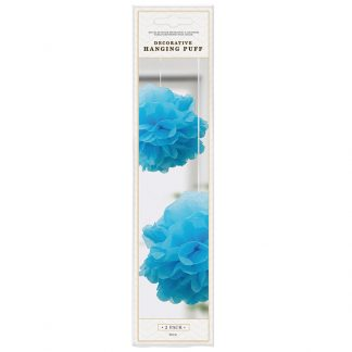 Deco Hanging Puff Blue 2pk