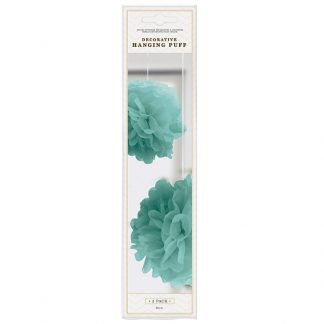Deco Hanging Puff Teal 2pk
