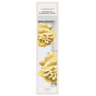 Deco Hanging Puff Gold 2pk